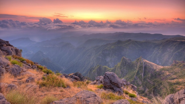 hd hintergrundbilder berge felsen sonnenuntergang wolken höhe
