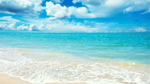 meer wasser blau himmel wolken sommer