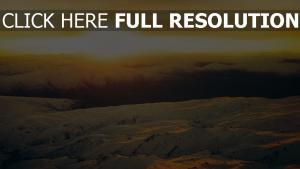 berge schnee winter canyons felsen sonnenuntergang