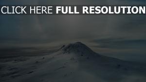 berg schnee winter sonne glühen licht