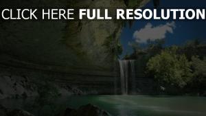 berge felsen bucht wasserfall lagune felsen