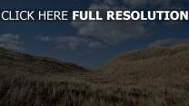 gras hügel himmel blau wolke