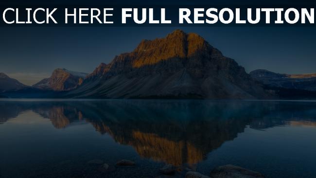 hd hintergrundbilder berge felsen see spiegelung wasser