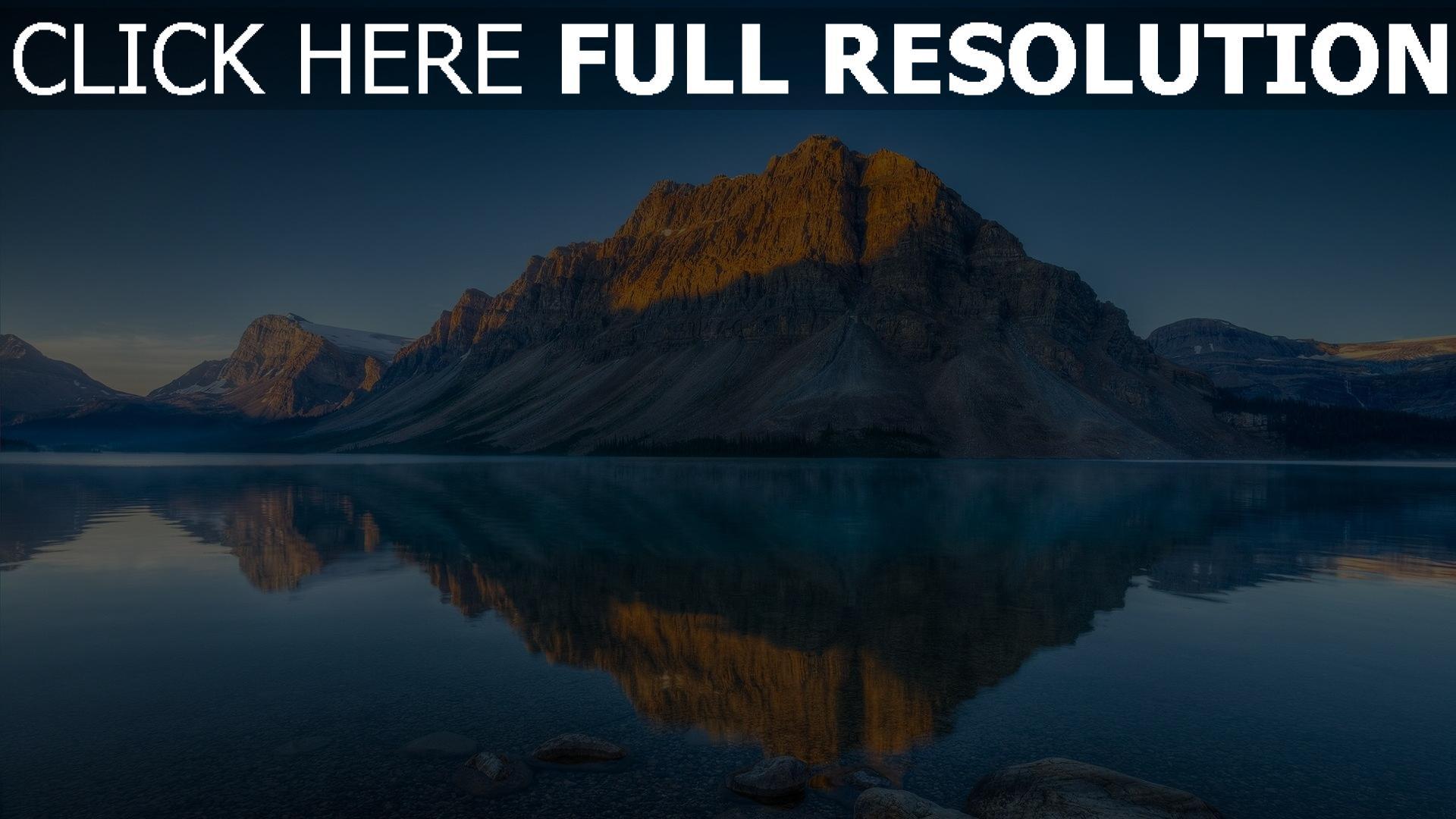 herunterladen 1920x1080 full hd hintergrundbilder berge felsen see spiegelung wasser 1080p