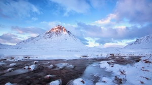 eis schnee winter berge flüsse wolken