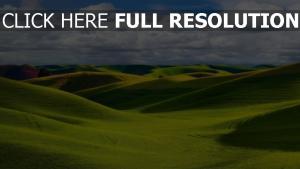 täler hügel gras grün himmel wolken