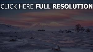 schnee winter hügel ebenen himmel wolken