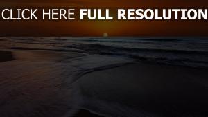 meer wellen sonne sonnenuntergang himmel orange