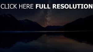 sterne himmel nacht berge milchstrasse
