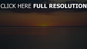sonnenuntergang sonne orange meer horizont