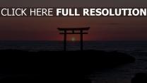 sonnenuntergang himmel strand meer horizont silhouette