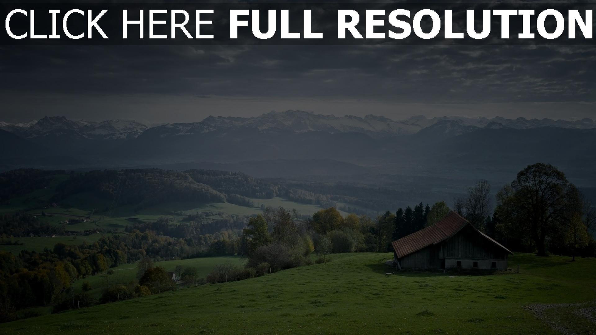 Hd hintergrundbilder berge berg haus horizont landschaft for Home wallpaper view