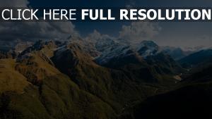 berge schnee berggipfel tal himmel