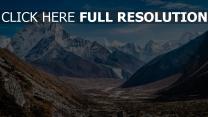 schlucht berge felsen steine schnee
