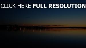 abend bucht sonnenuntergang stadt küste lichter