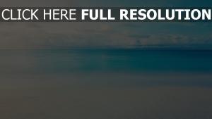 horizont linie himmel blau wolken ruhig