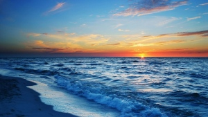 ozean wellen ufer himmel sonnenuntergang schön
