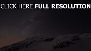 schnee himmel sterne milchstraße glanz