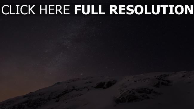 hd hintergrundbilder schnee himmel sterne milchstraße glanz