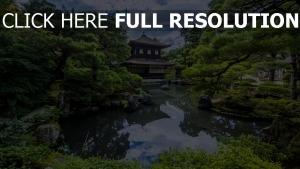 japanische garten teich bäume harmonie
