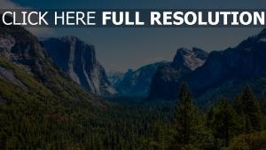 nationalpark schlucht wald berge felsen