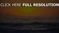 wellen wasser spritzen sonnenuntergang sonne orange himmel