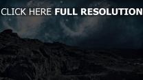 felsen berge himmel sternbilder nacht
