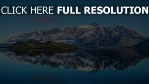 berge see winter schnee wasser reflexion