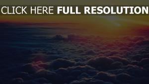 sonnenaufgang himmel wolken ansicht von oben