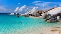 meer lagune steine urlaub sommer strand