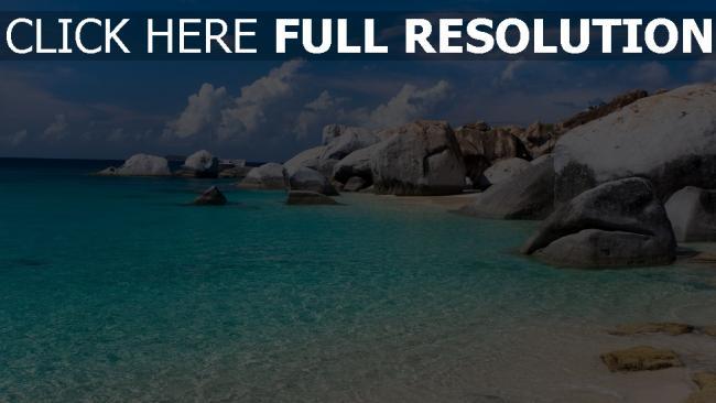 hd hintergrundbilder meer lagune steine urlaub sommer strand