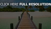 pier bohle meer strand tropen