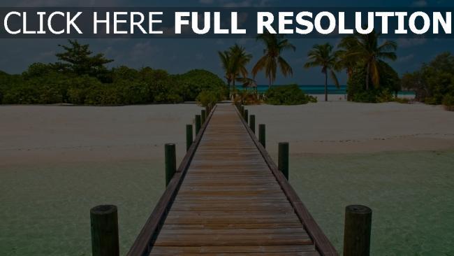 hd hintergrundbilder pier bohle meer strand tropen