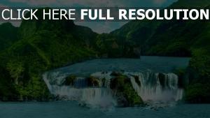 berge wasserfälle flüsse tropisch insel