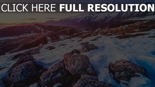 hd hintergrundbilder schnee berge felsen steine höhe