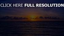 meer wellen himmel orange wolken sonnenuntergang
