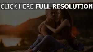 paar romantik liebe sonnenuntergang