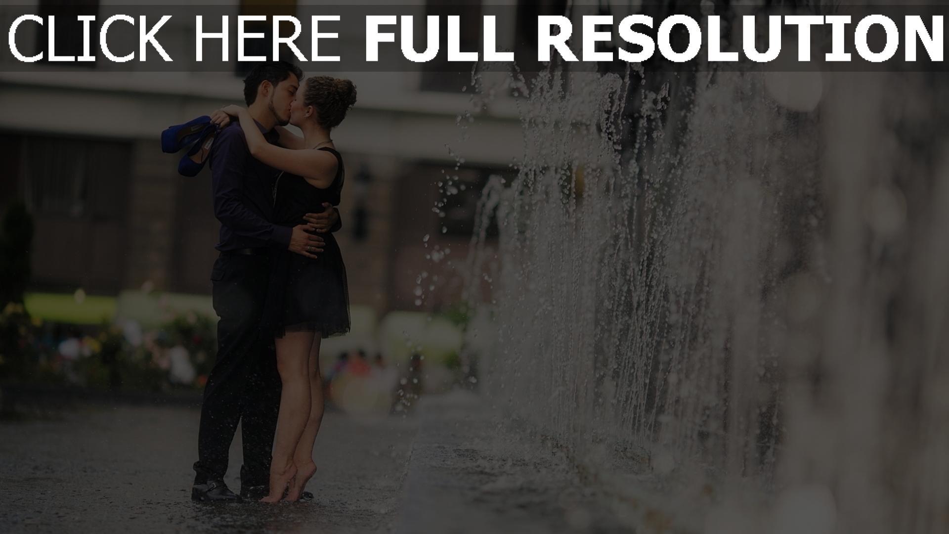 hd hintergrundbilder brunnen paare datum küssen 1920x1080