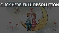 mond paar kaninchen romantik