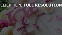 bänder gruß romantik rosen