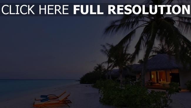hd hintergrundbilder romantik küste meer palmen