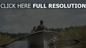 boot fluss paddel paar romantik