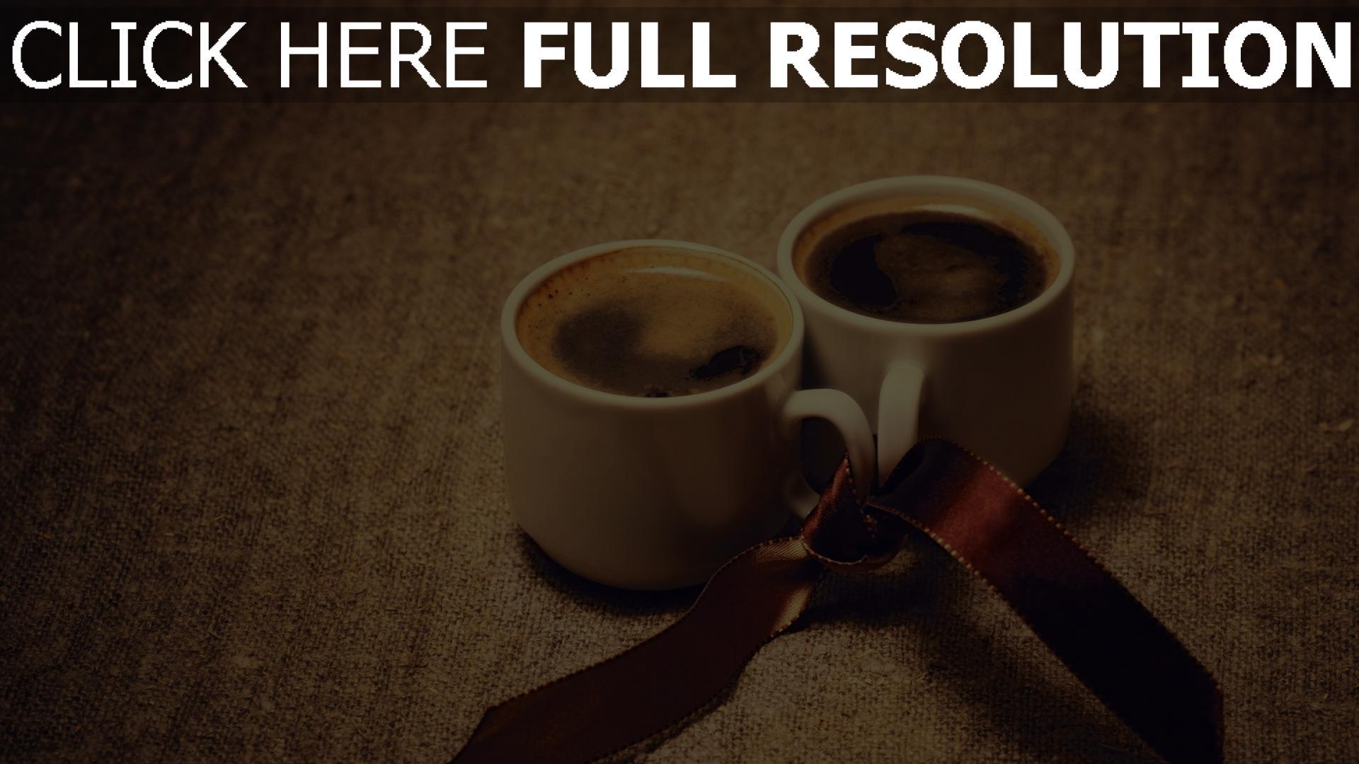 hd hintergrundbilder kaffee schale band romantik 1920x1080