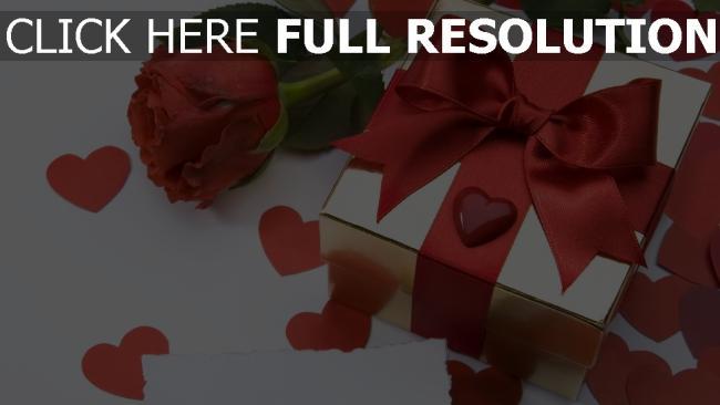 hd hintergrundbilder bogen rose herz geschenk romantik