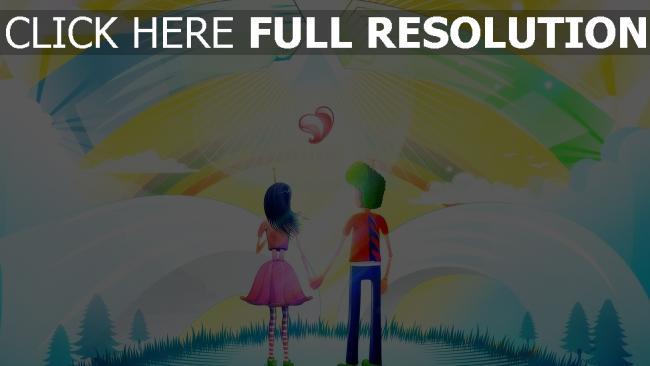 hd hintergrundbilder zeichnung junge mädchen herz romance