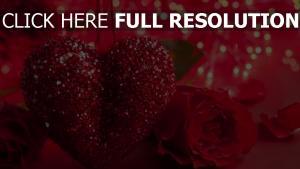 blumen rosen herzen glitter romance