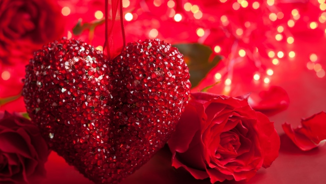 hd hintergrundbilder blumen rosen herzen glitter romance