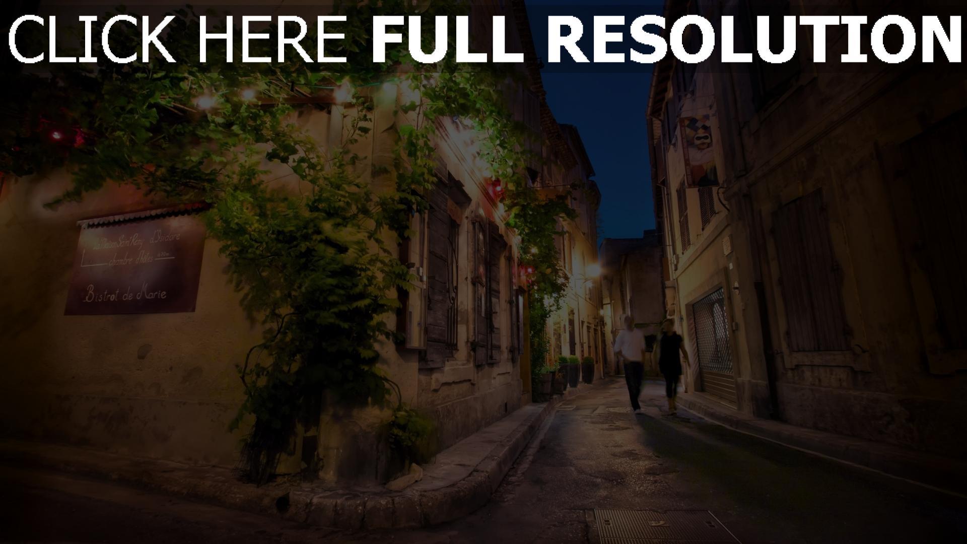 hd hintergrundbilder straße frankreich nacht gebäude paar romantik 1920x1080