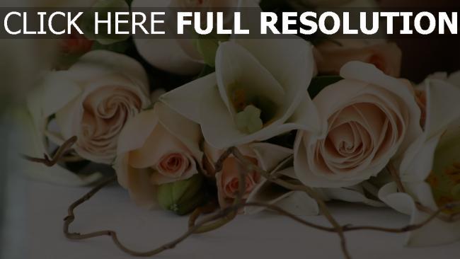 hd hintergrundbilder blumenstrauß rosen fein romantiker