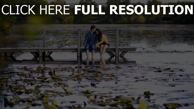 hd hintergrundbilder paar fluss natur zärtlichkeit romantik